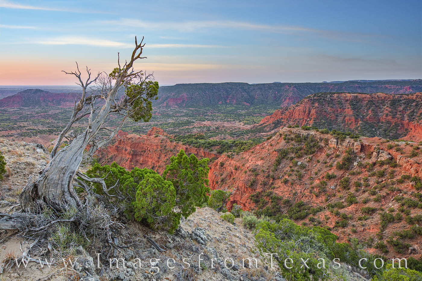 A beautiful morning greets the west Texas landscape. This view comes from Haynes Ridge a few minutes before sunrise in Caprock...