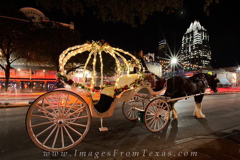 austin texas photos,6th street austin,Sixth street austin texas,austin skyline,austin texas skyline,austin horse and carriage., photo