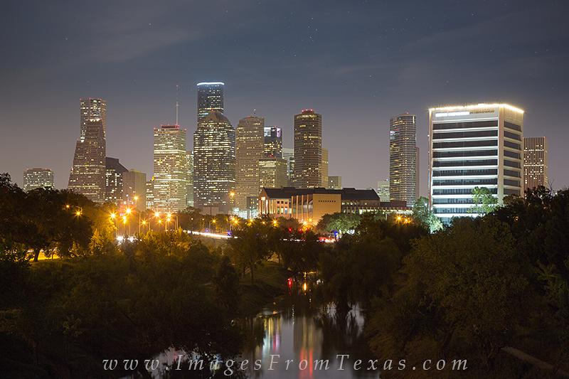 houston skyline prints,houston skyline pictures,buffalo bayou houston,houston texas prints, photo