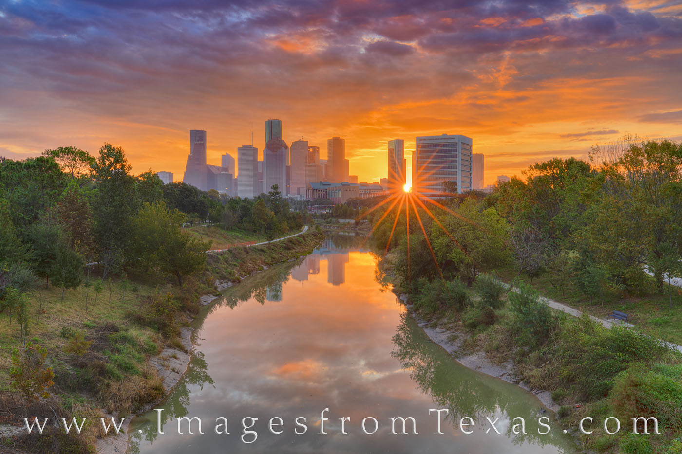 houston skyline, buffalo bayou, sunrise, cityscape, morning, orange, glow, sunshine, houston, skyline, photo
