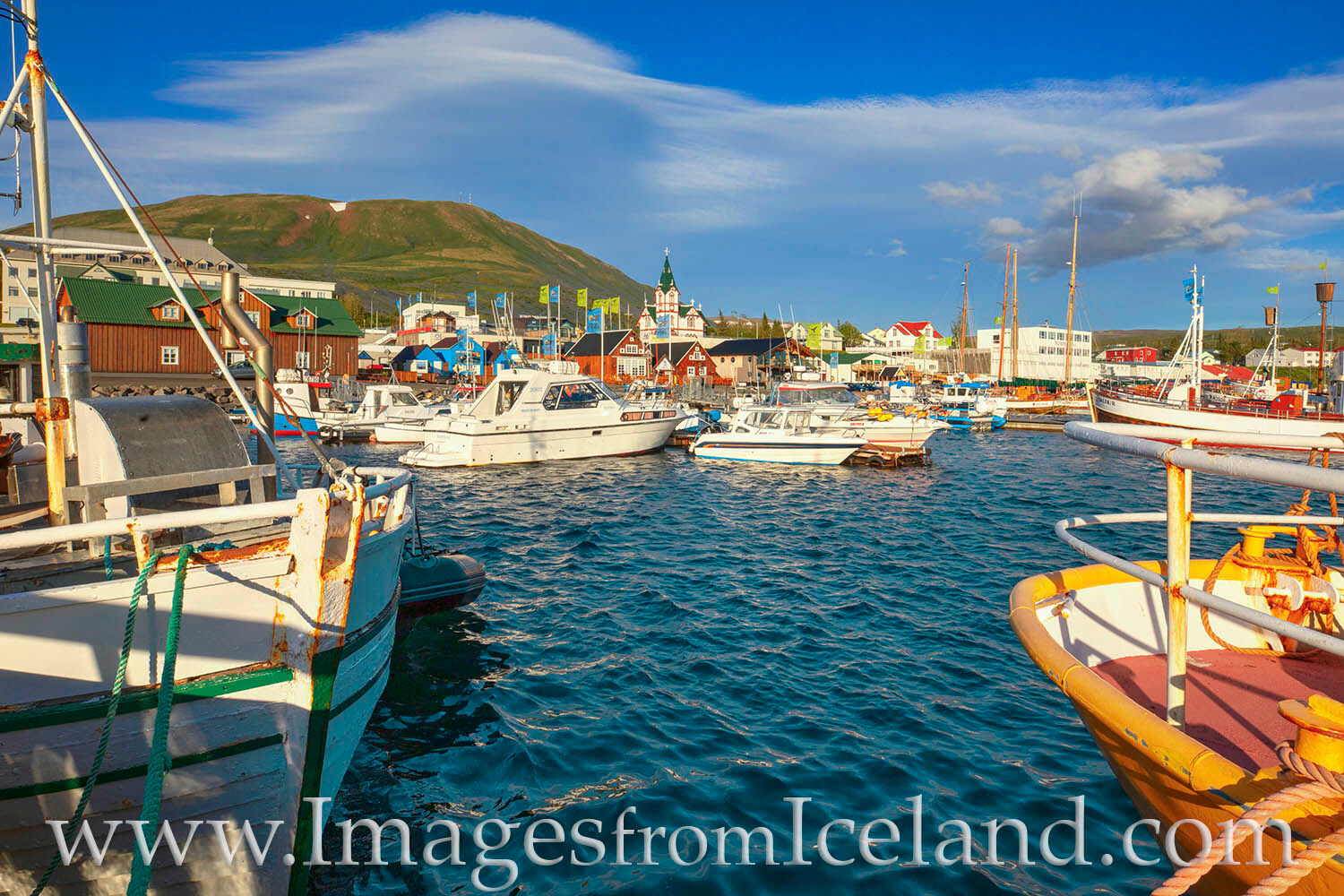 Along Skjálfandi bay in north Iceland, the port town of Húsavík has just over 2,000 inhabitants. The main feature of the town...