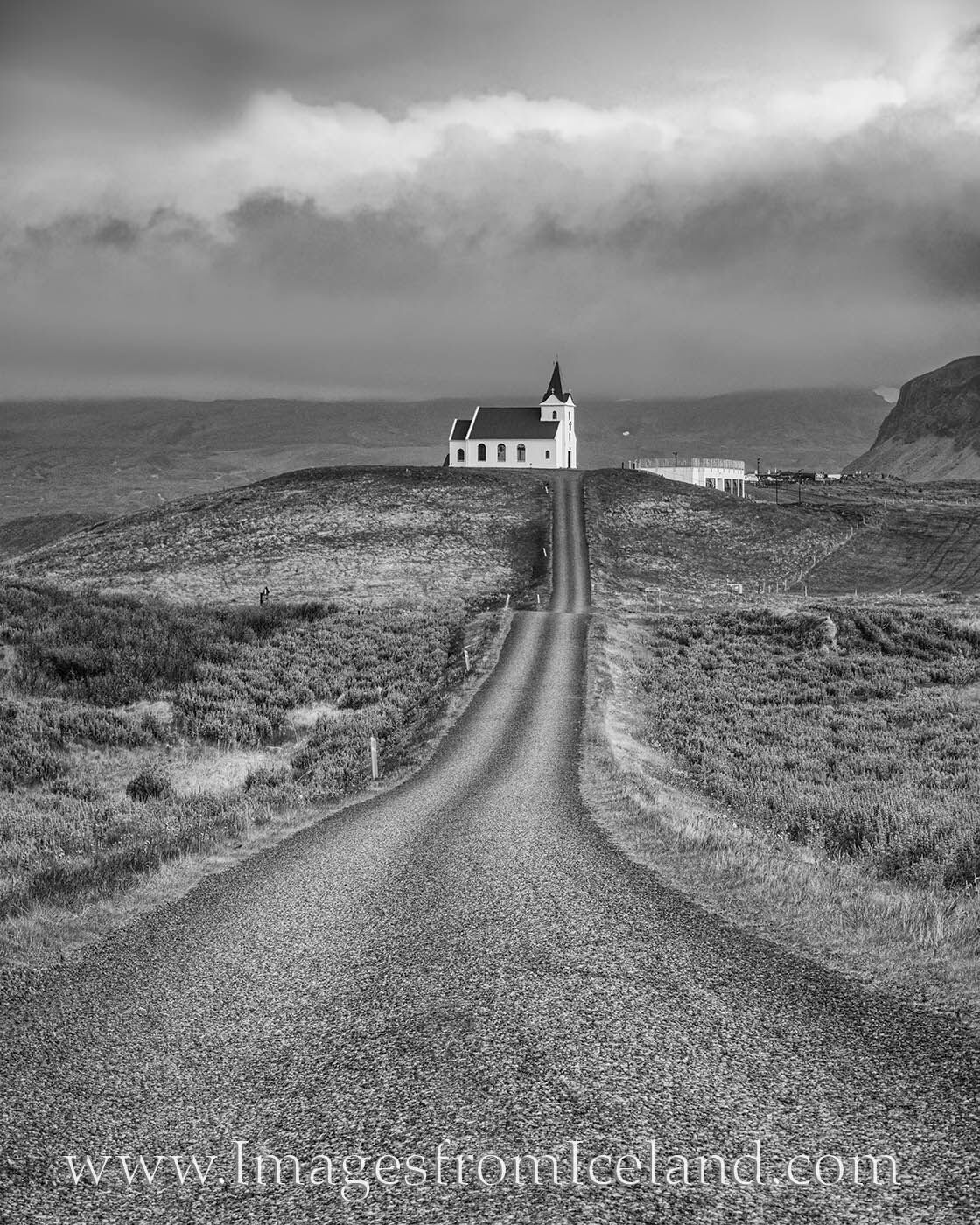 From the Snæfellsnes Peninsula, Ingjaldshólskirkja is a famous and oft-photographed church atop a small hill. In the summer...