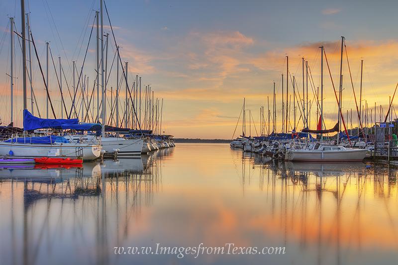 lake travis,texas hill country,lakeway,boats,harbor,lake travis images,lake travis photos,sailboats,sunrise,texas sunrise, photo