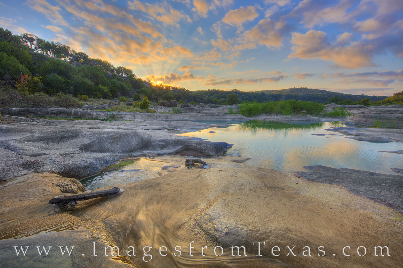pedernales falls, pederanales river, texas hill country, state park, texas landscapes, sunrise, water, river, stream, morning, solitude, quiet, photo