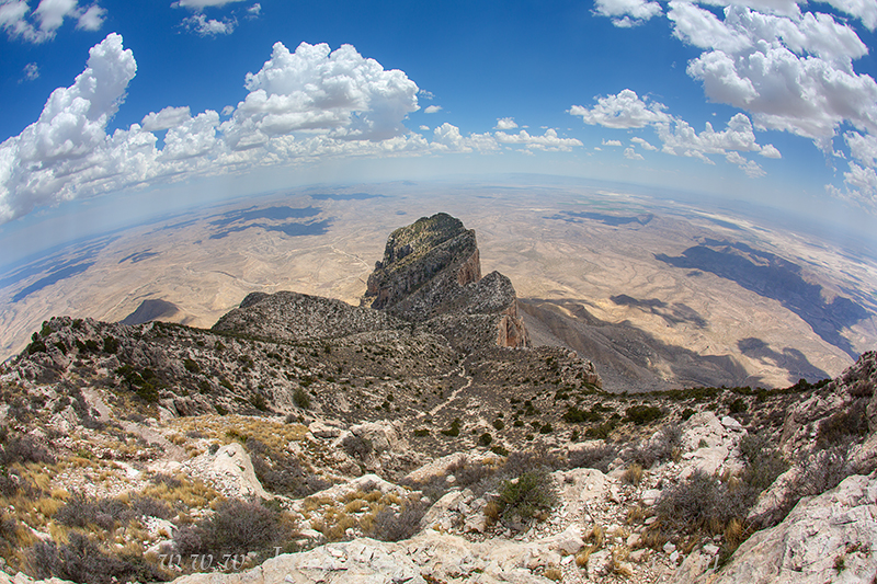 Guadalupe Peak rises 8,739 feet above the Chihuahuan Desert. As the tallest point in both this national park and in Texas, if...