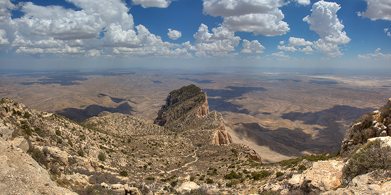 This panorama of the harsh Texas landscape comes from the amazing Guadalupe Mountains National Park. From the tallest point in...