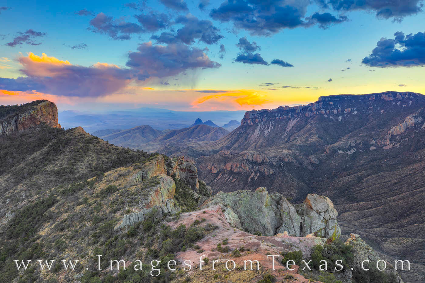 big bend national park, lost mine trail, juniper canyon, chisos mountains, texas sunset, texas landscapes, west texas, photo