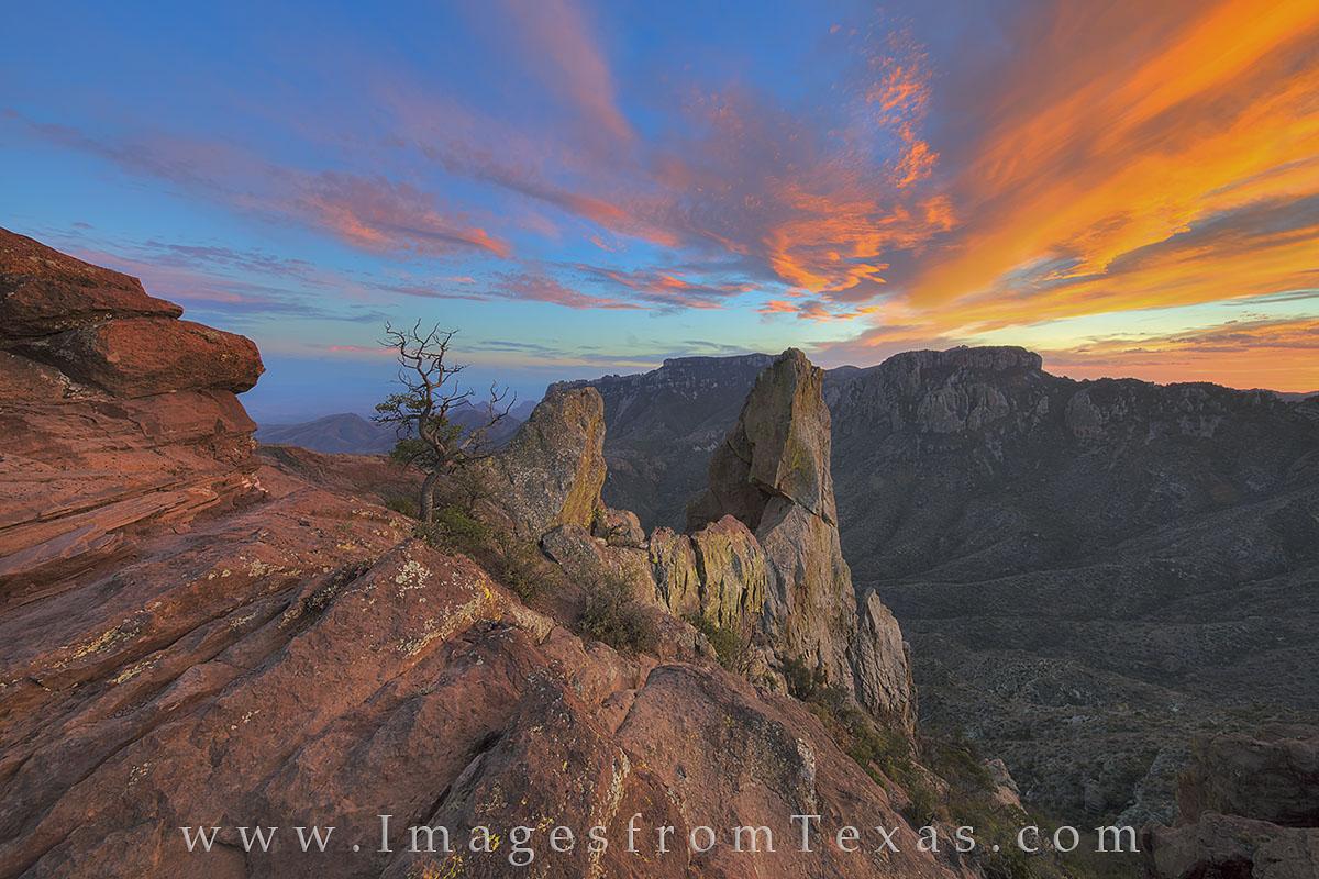 big bend national park, big bend images, texas national parks, lost mine trail, lost mine, chisos, chisos mountains, juniper canyon, texas sunset, sunset, photo