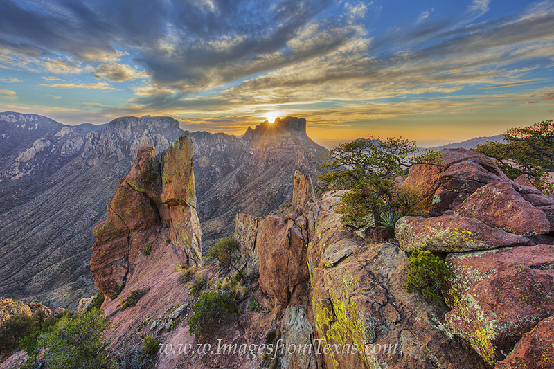big bend national park,lost mine trail,chisos mountains,lost mine peak,juniper canyon,texas sunset,texas landscape,big bend,big bend prints, photo