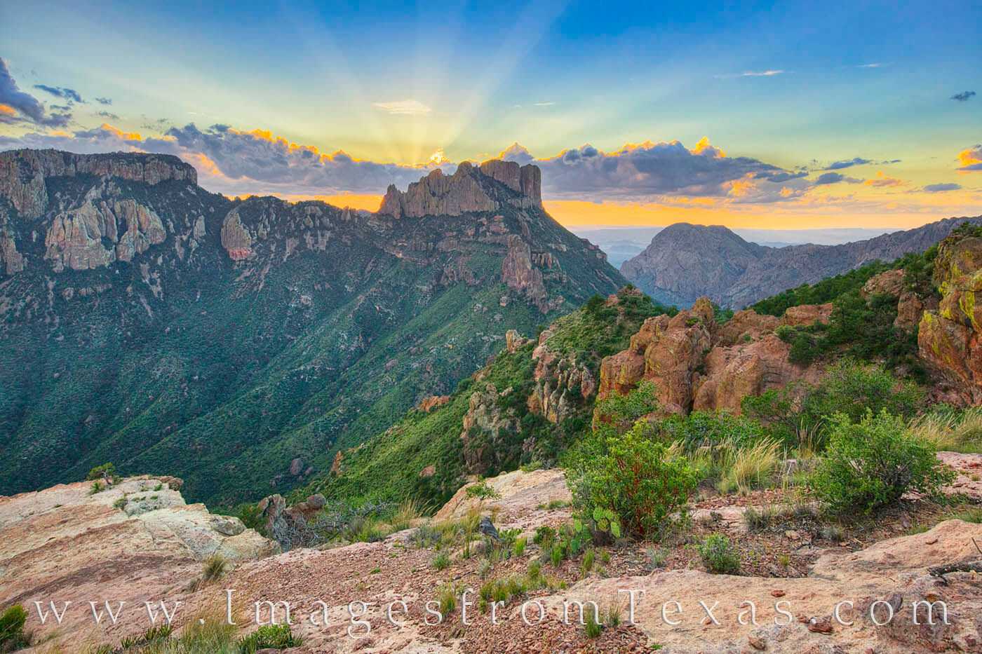 lost mine, lost mine trail, hiking, big bend, big bend national park, west texas, chisos mountains, sunset, photo