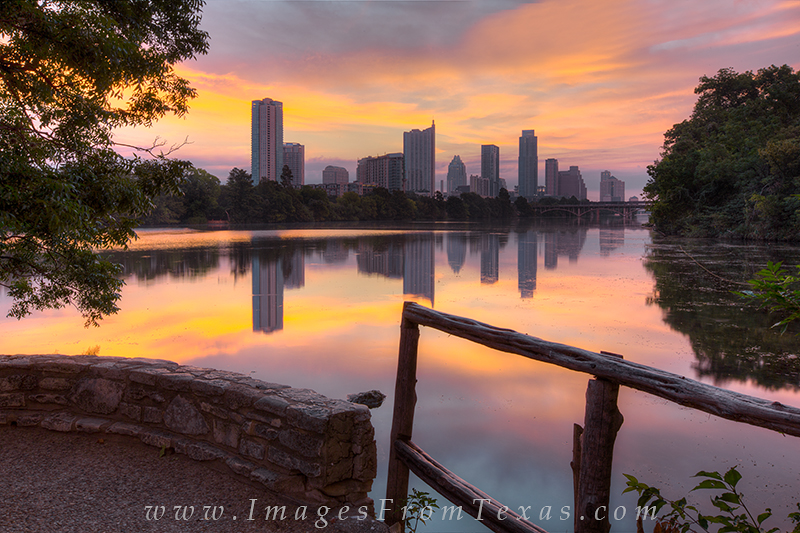 lou neff point austin,austin texas skyline,lady bird lake,zilker park images, photo