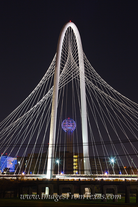 Margaret Hunt Hill Bridge,Dallas skyline photos,Continental Avenue Bridge,Dallas Texas Images, photo