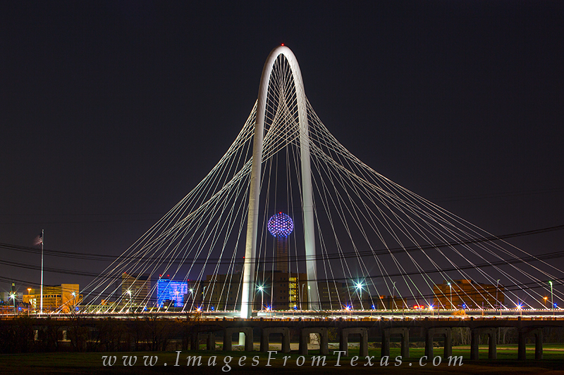 dallas skyline pictures,reunion tower,Margaret Hunt Hill Bridge,dallas texas,dallas tx photos, photo