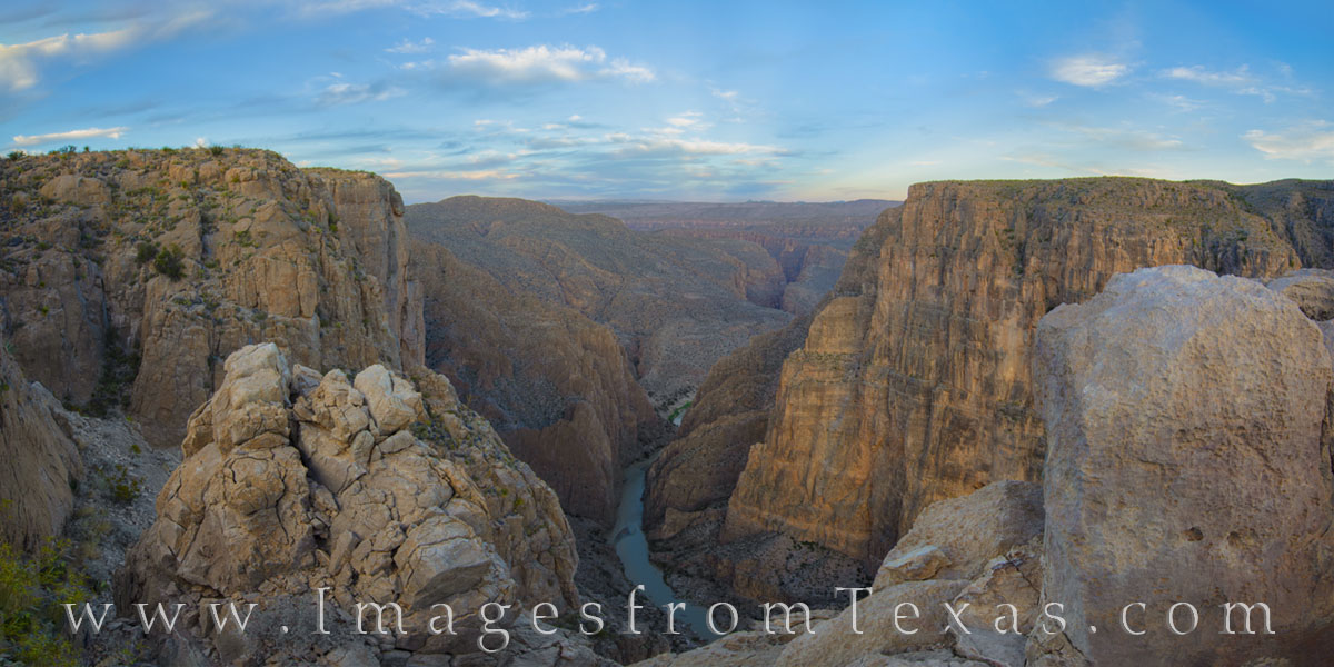 Mariscal Canyon in Big Bend National Park opened before us after a four mile hike across the desert. With only cairns to mark...