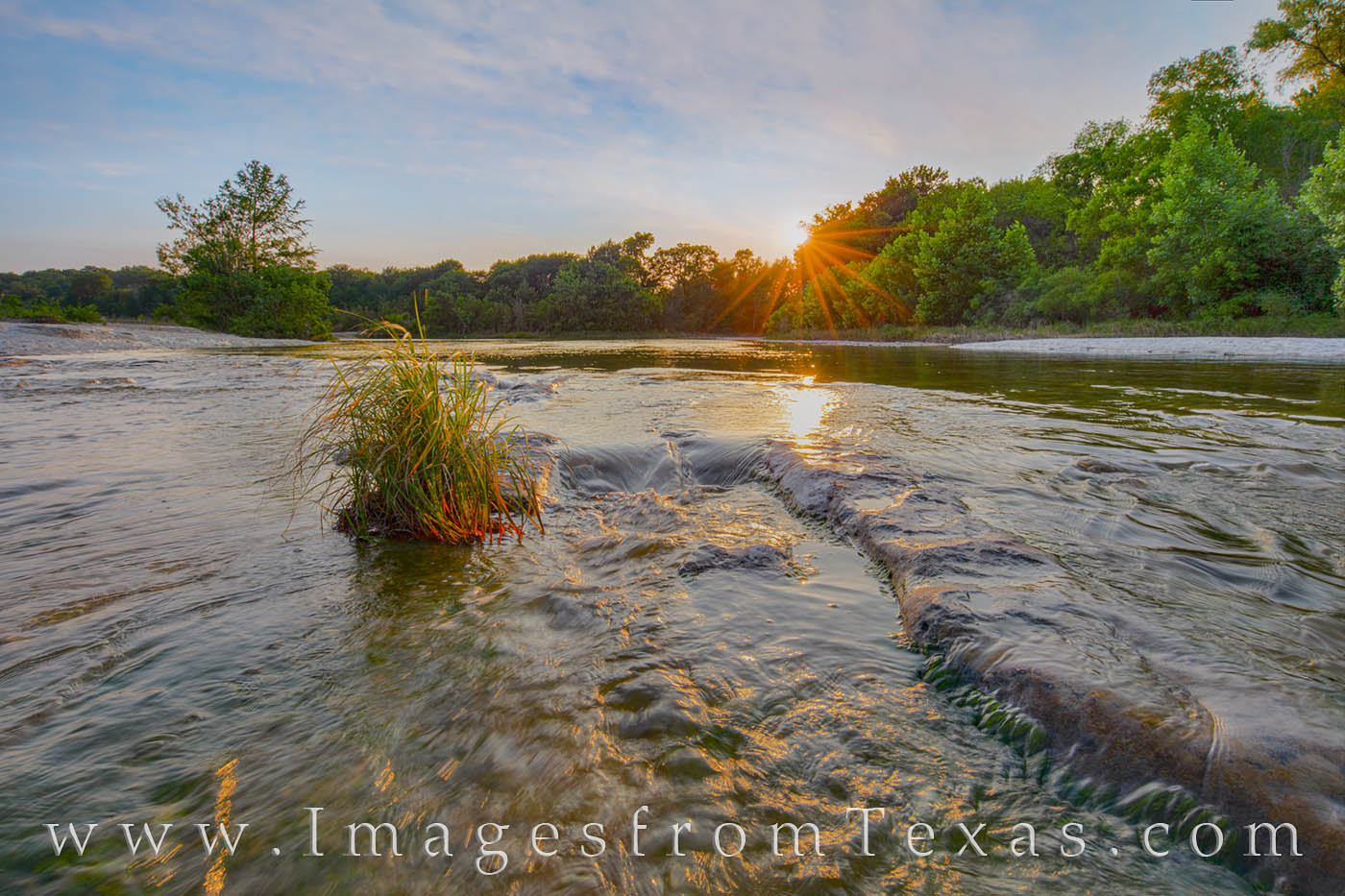 lower falls, onion creek, mckinney falls, austin, texas state parks, summer, sunset, evening, waterfall, cascade, photo