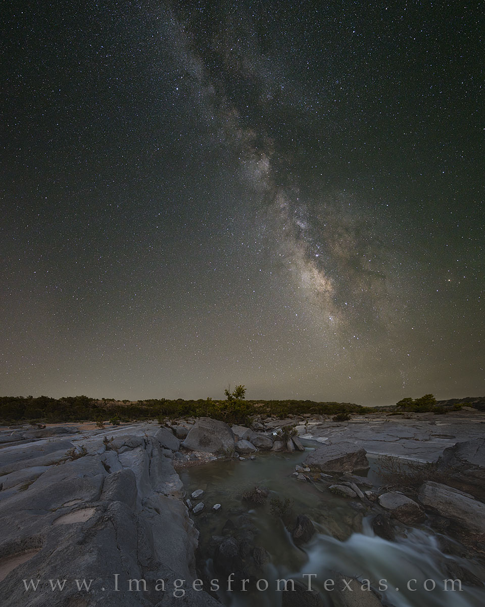 texas hill country, milky way, pedernales falls, night sky, texas milky way, hill country prints, milky way images, milky way over texas, photo