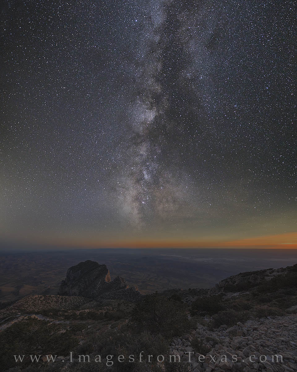 milky way, el capitan, guadalupe peak, guadalupe mountians, guadalupe mountains national park, texas dark skies, texas milky way, photo