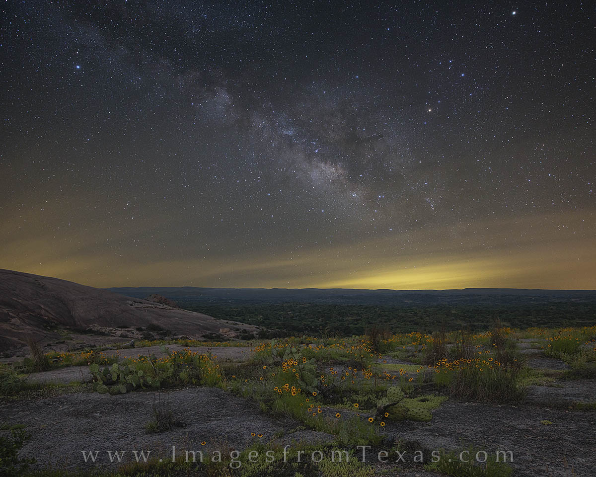 milky way, texas hill country, texas wildflowers, enchanted rock, texas state parks, texas hill country images, milky way photos, milky way prints, photo