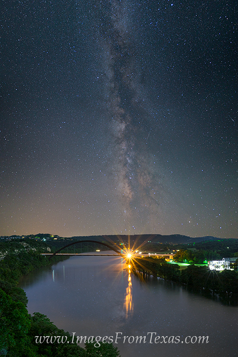 360 bridge at night,milky way over austin,360 bridge photos,austin texas at night, photo