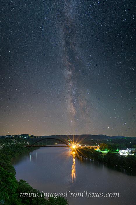360 bridge at night,milky way over austin,360 bridge photos,austin texas at night, photo