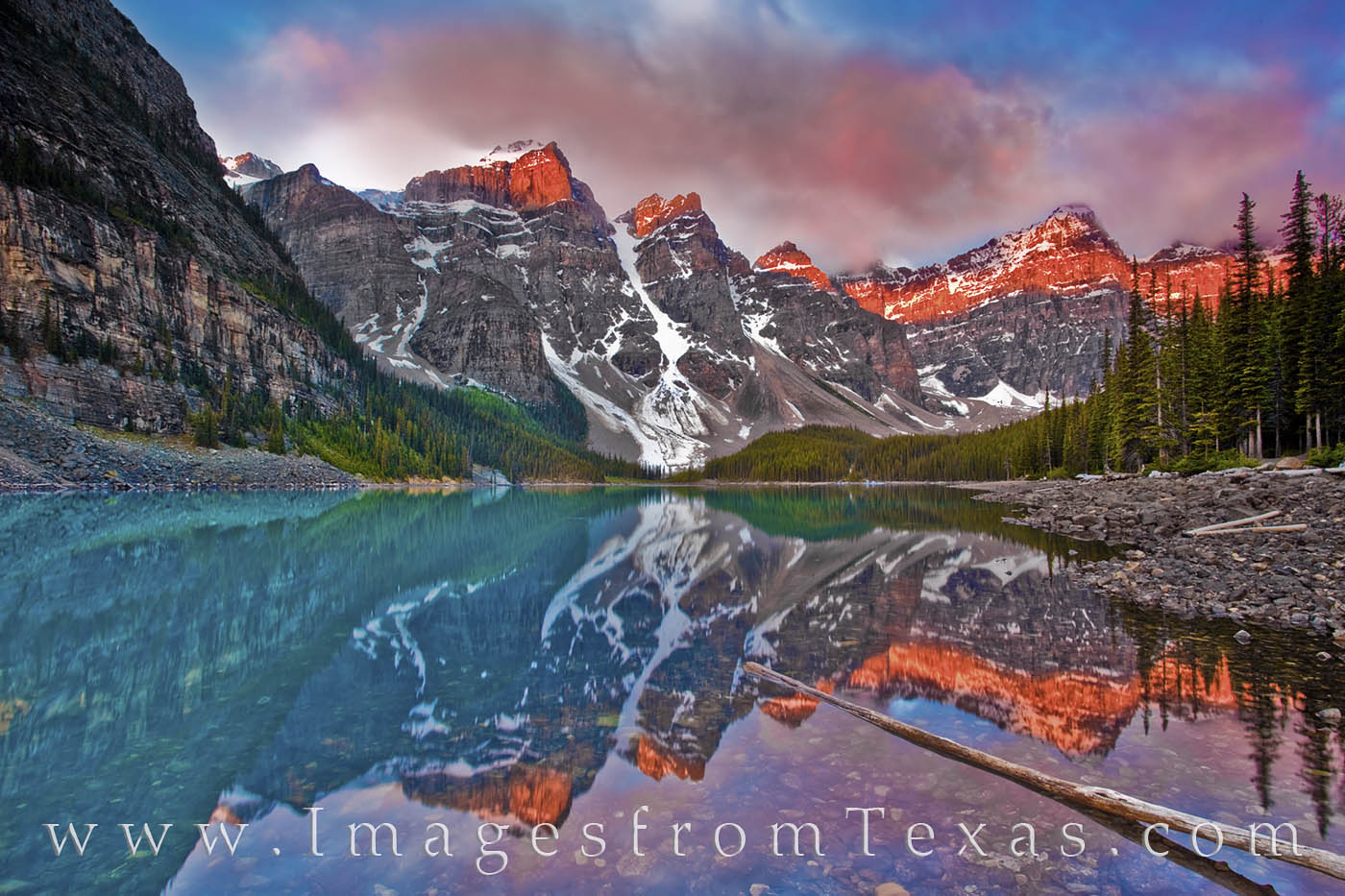 banff, moraine lake, canada, banff national park, sunrise, 10 peaks, photo