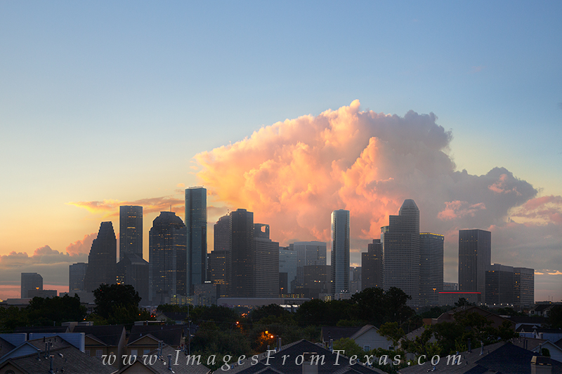 skyline of houston,houston skyline photos,downtown houston,houston texas,storm clouds over city,texas storms,thunderhead,houston skyscrapers,texas cities,storm clouds, photo