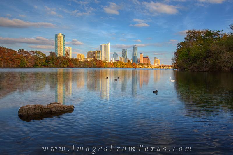 austin cityscape,lou neff point,lady bird lake and austin,austin texas prints, photo