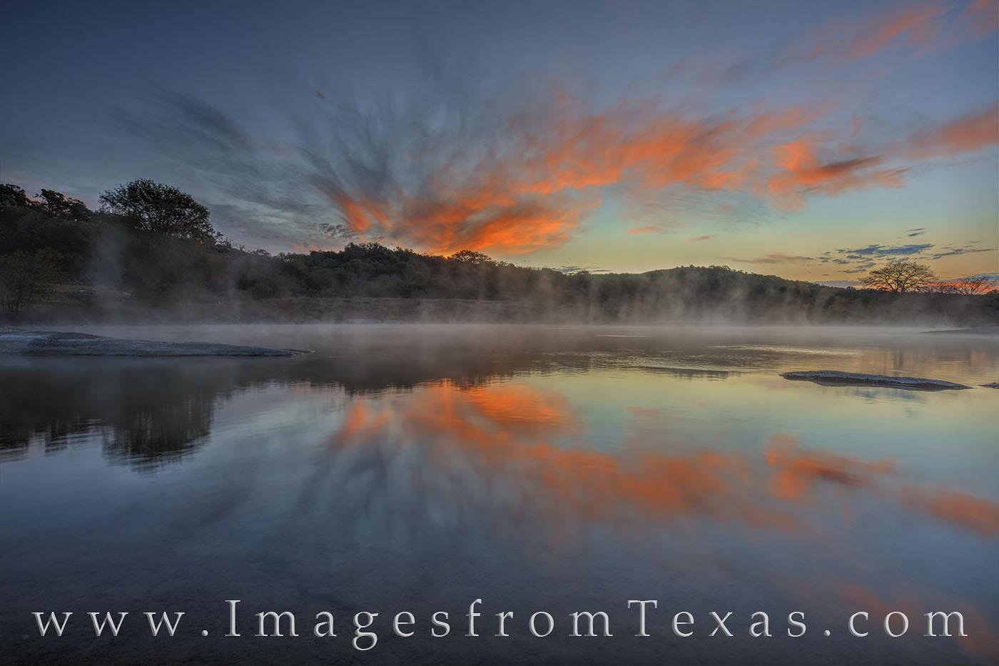 texas hill country, pedernales river, pedernales falls, sunrise, texas sunrise, november, morning, photo