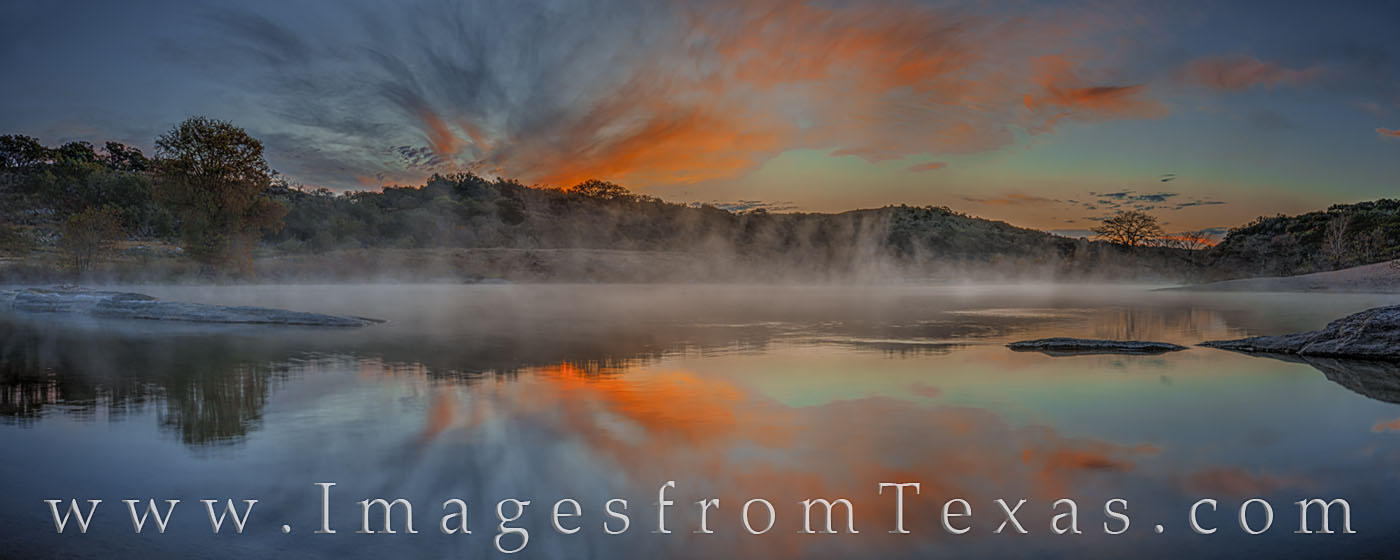 texas hill country, pedernales river, pedernales falls, sunrise, texas sunrise, november, morning, texas landscapes, texas state parks, texas sunrise, fog, mist, photo