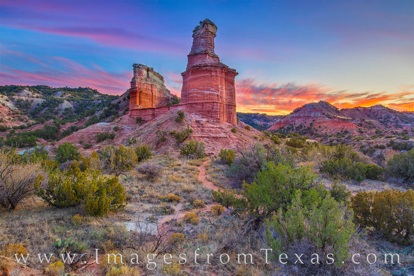 palo duro canyon, lighthouse, lighthouse hike, trail, state park, sunset, canyon, panhandle, photo