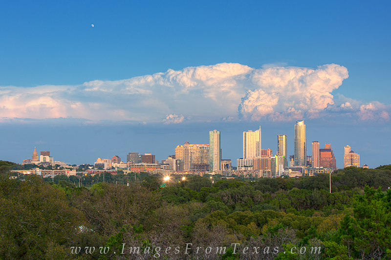 Along a hiking trail near Zilker Park on the southwest end of town, you have a great view of the Austin skyline. This image was...