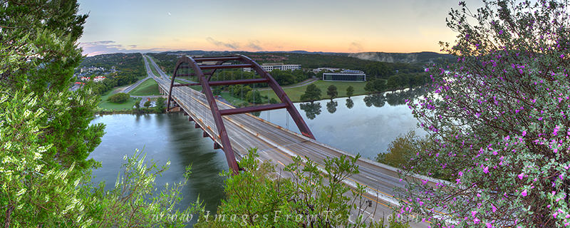 360 bridge panorama,austin bridges,austin bridge pano,pennybacker bridge pano, photo