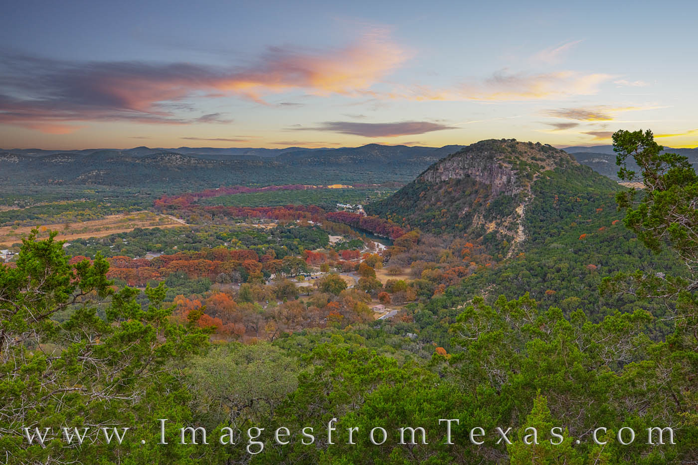 old baldie, garner state park, painted rock, frio river, november, fall, autumn, texas state parks, hill country, garner state park prints, photo