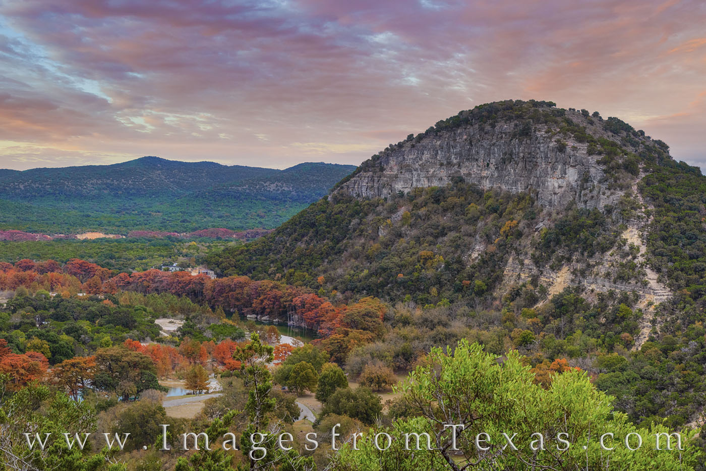 fall, autumn, garner state park, old baldie, colors, sunset, painted rock, frio river, hill country, photo