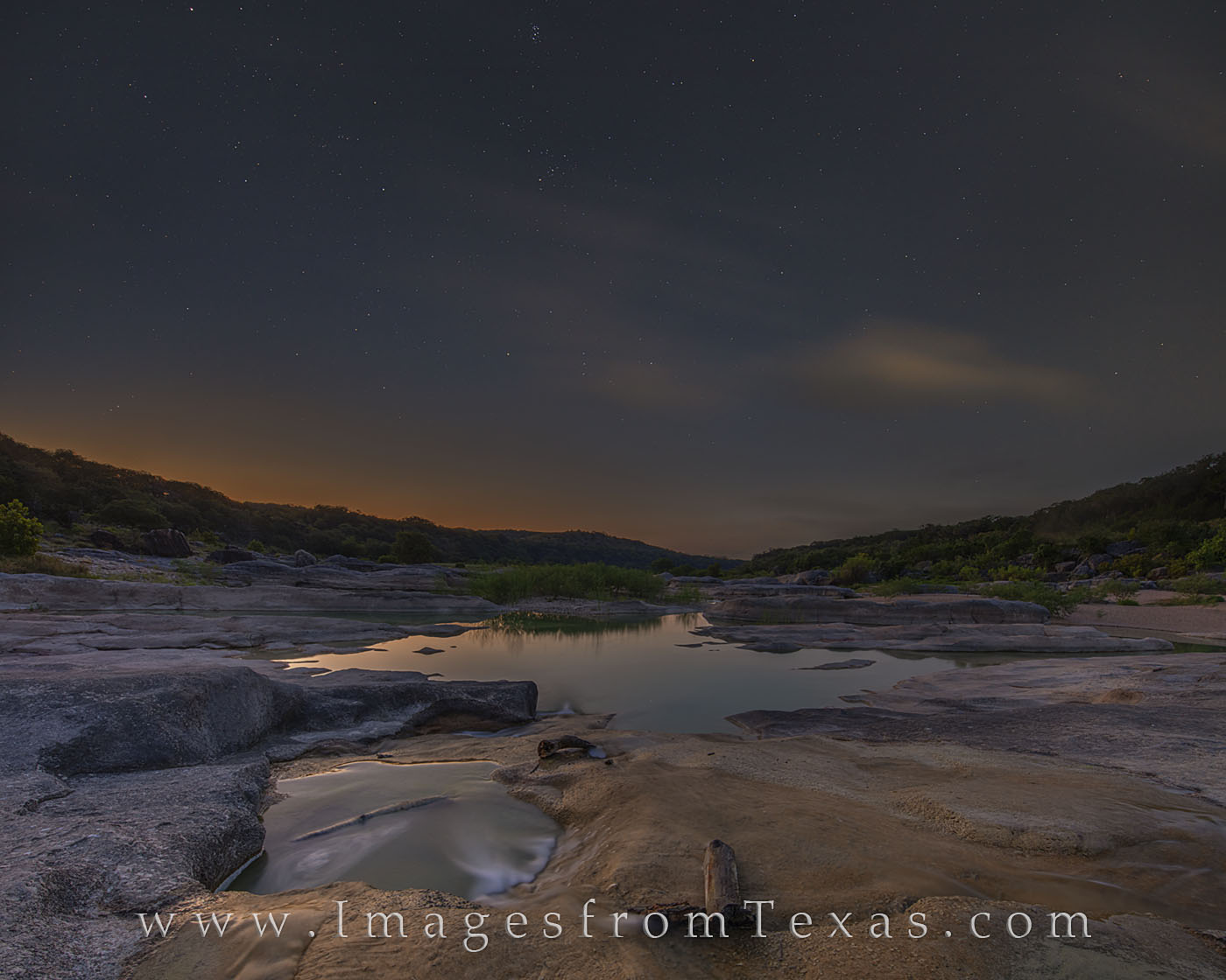orion, stars, pedernales river, pedernales falls, texas hill country, night, morning, glow, sun, constellations, peace, photo