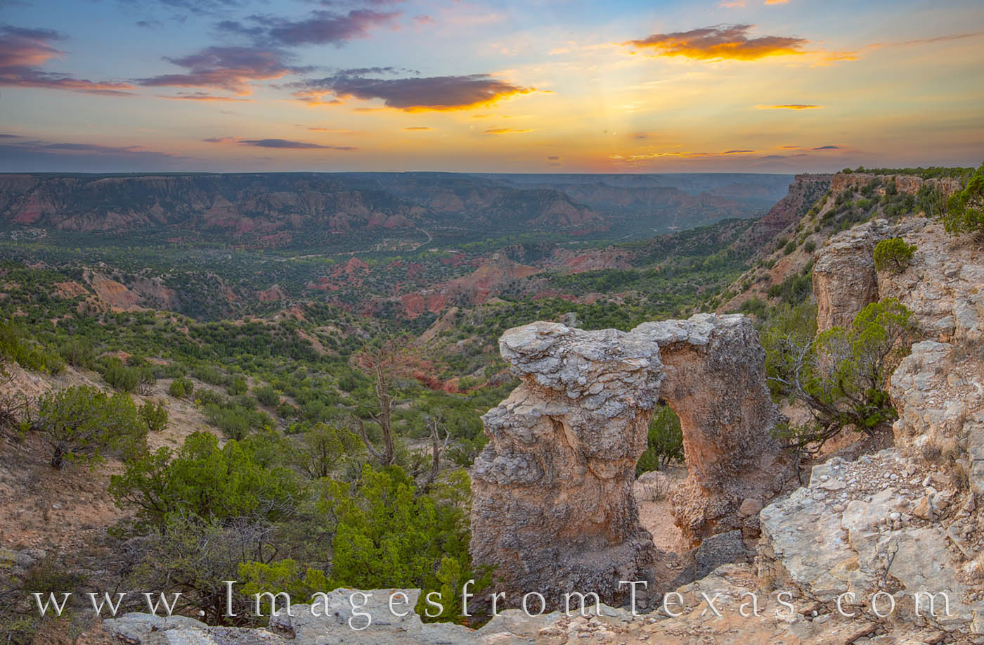 """From high up on the east rim of Palo Duro Canyon this arch is called by some locals as the """"Alter of Palo Duro Canyon."""" While..."""