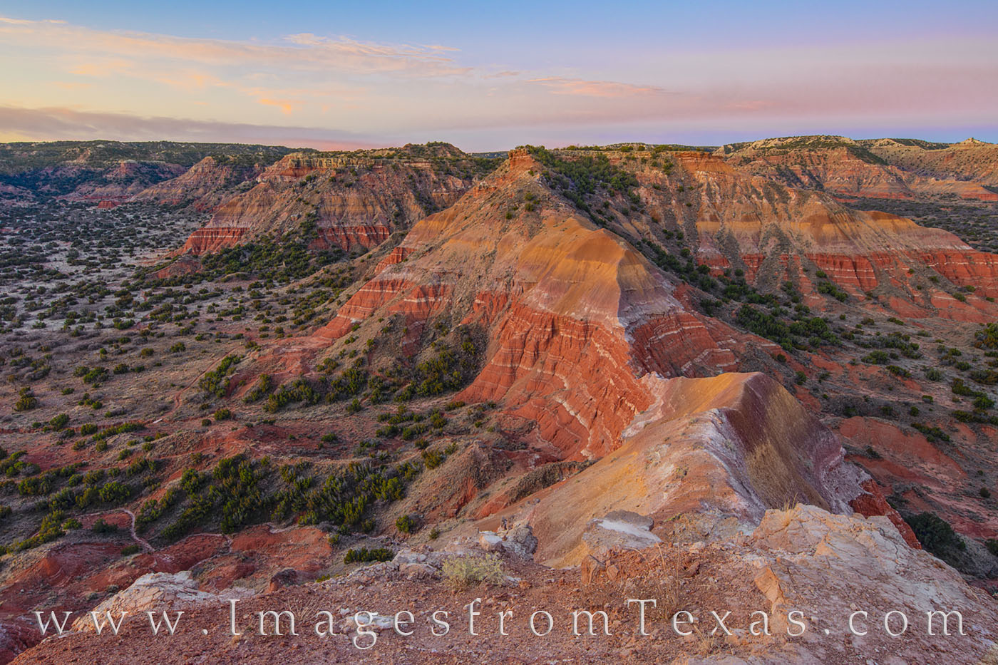 palo duro, capitol peak, sunrise, morning, summit, orange, state park, hiking, climbing, photo