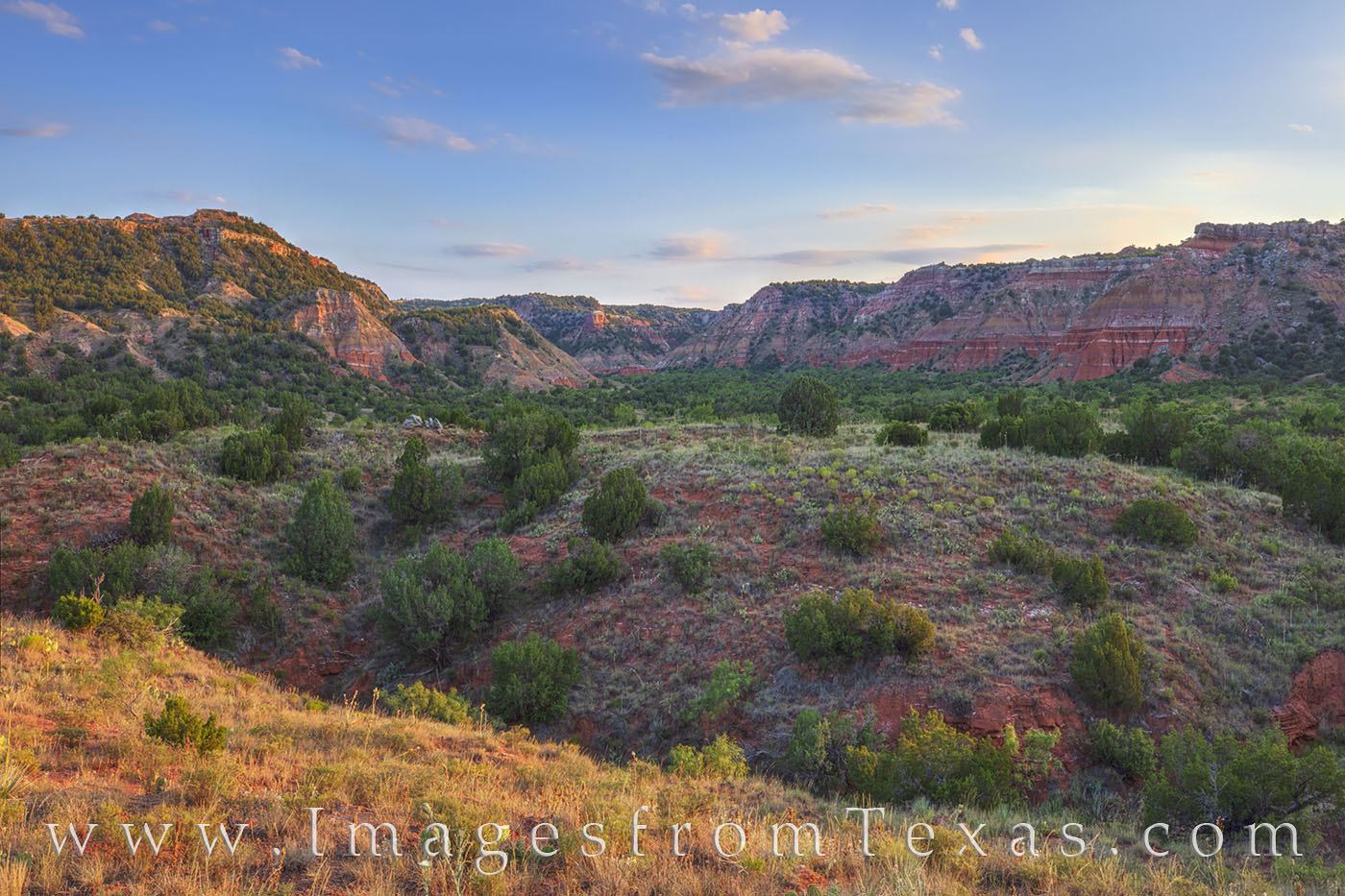 palo duro canyon, evening light, sunset, colors, lighthouse trail, summer, layers, west texas, photo