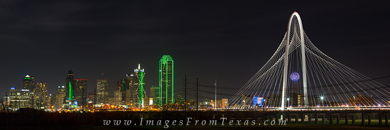 Dallas at night,dallas skyline at night,margaret hunt hill bridge,reunion tower,fountain place,dallas cityscape, photo