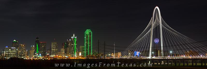 Dallas at night,dallas skyline at night,margaret hunt hill bridge,reunion tower,fountain place,dallas cityscape, photo