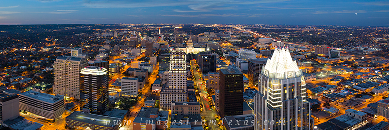 Austin Texas pano,downtown austin prints,frost tower,UT Tower,Texas State Capitol, photo