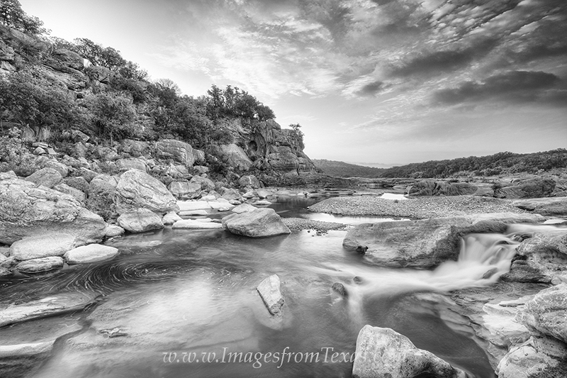 texas hill country photos,black and white,pedernales falls state park,pedernales falls images,texas sunrise,texas landscapes, photo