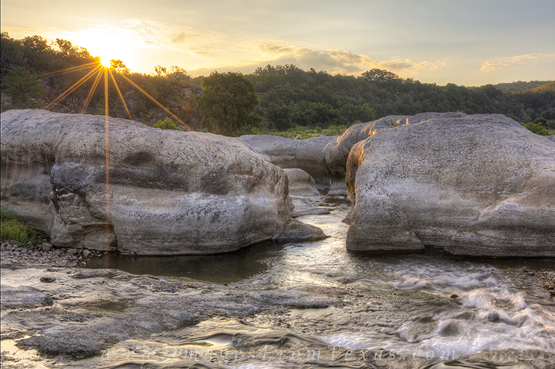 pedernales falls,texas hill country,sunrise,texas landscapes, photo