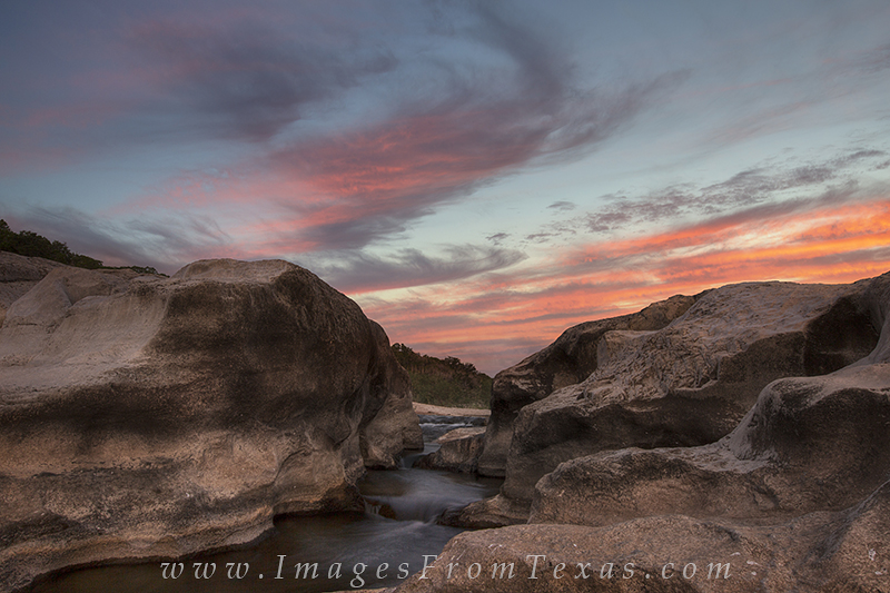 Pedernales Falls,Texas Hill Country,sunset,Texas landscapes, photo