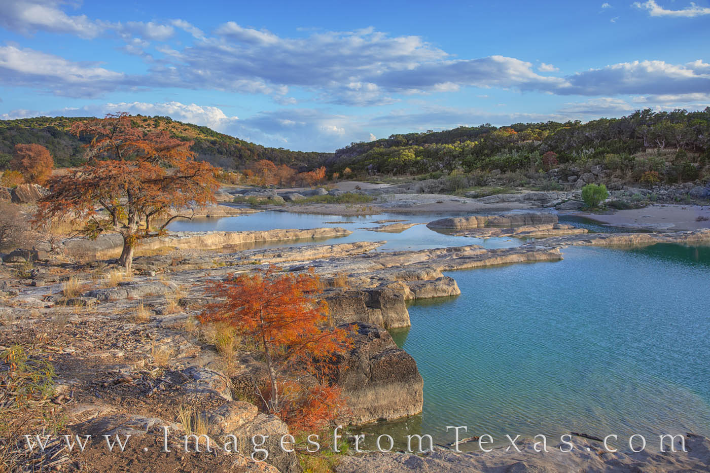 Pedernales Falls Autumn Afternoon 1122-1