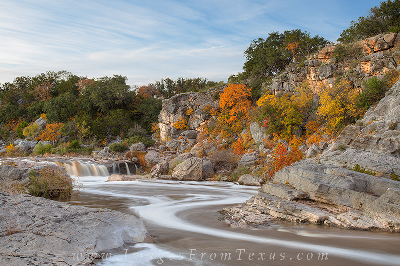 This was a difficult place to shoot the fall colors at Pedernales River. I was actually standing on top of a large boulder that...