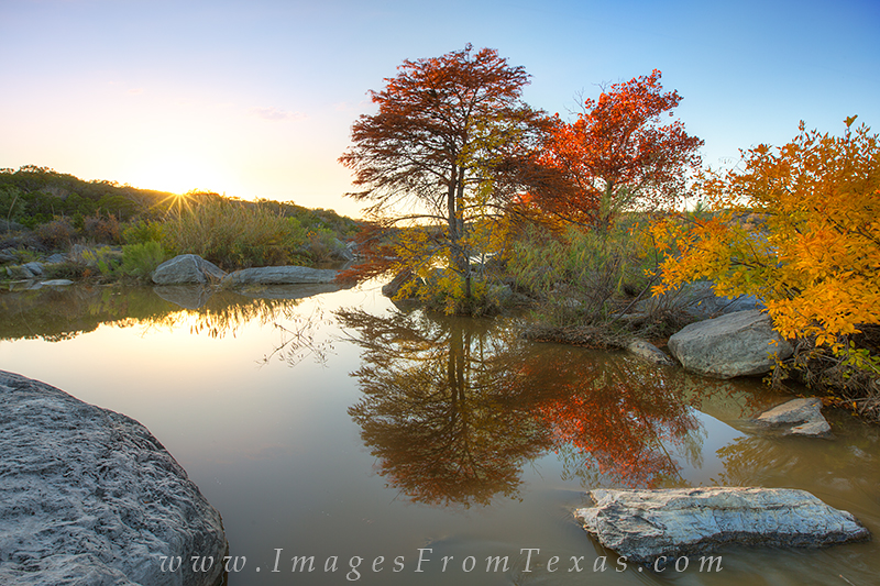 texas hill country prints,texas hill country images,pedernales falls,autumn colors,fall colors,Texas, photo