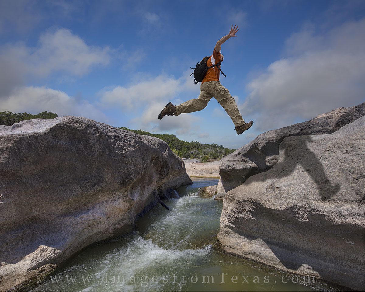 pedernales falls, texas state parks, pedernales falls state park, texas hill country, adventure, jumping, canyons, photo