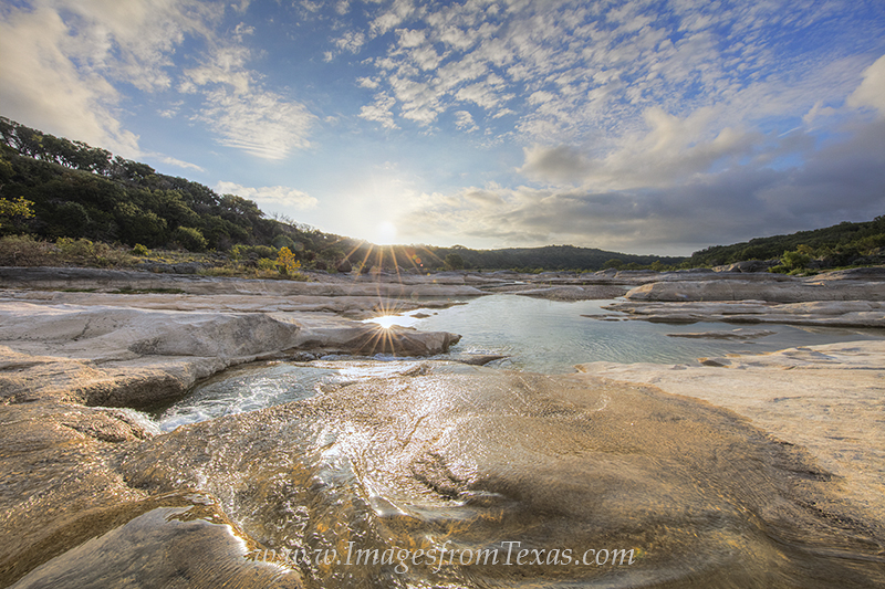 texas hill country, pedernales falls, texas landscapes, pedernales river, texas sunrise, photo