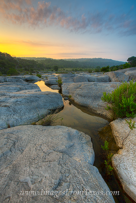texas hill country images,pedernales falls images,pedernales fall state park,sunrise,texas state parks,texas water images, photo